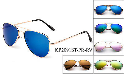 Kids Polarized Aviator Sunglasses Flash Mirror Lens Teens Junior Boys Girls  ()