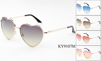 New Vintage Sunglasses Retro Fashion Lolita Heart Shaped Aviator Metal Frame (Heart Shaped Sunglasses Metal Frame)