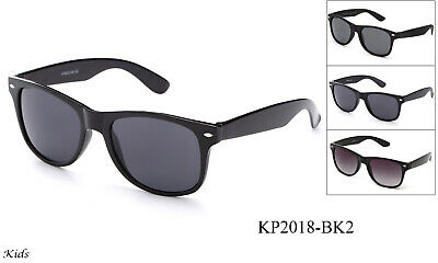 Kids Sunglasses Retro Black Frame Boys Girls UV 100% Lead Free FDA (Sunglasses Kids 2018)