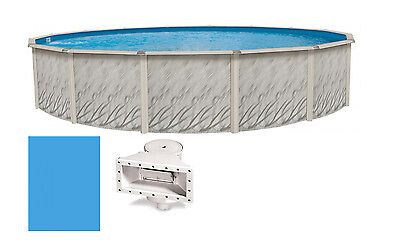 "27'x52"" Ft Round MEADOWS Above Ground Steel Frame Swimming Pool & Liner Kit"