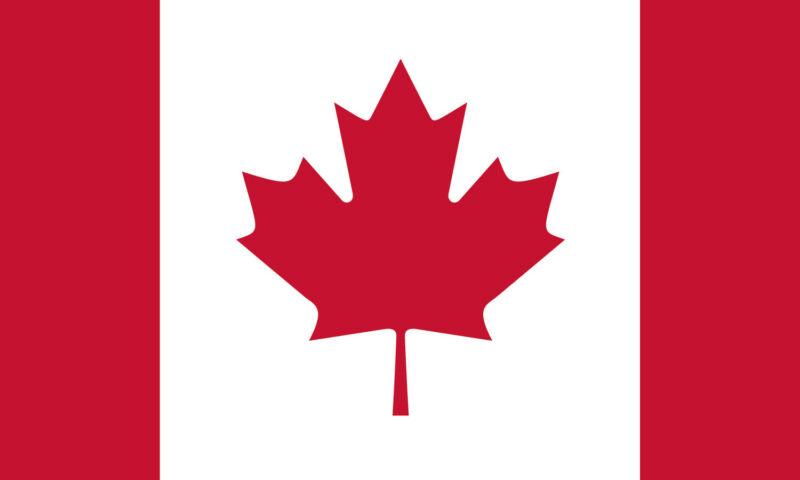 5x8 5 x 8 FT Strong Canada Canadian SolarMax Nylon Flag