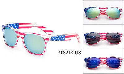 - Uncle Sam Halloween Red USA White & Blue American Flag Sunglasses Eyewear UV400