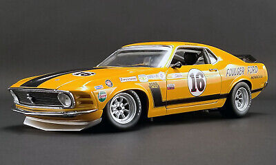 """ACME A1801835 1:18 1970 FORD BOSS 302 TRANS AM MUSTANG """"#16 FOULGER FORD"""""""