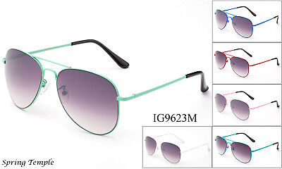 Popular Colorful Aviator Sunglasses Classic Vintage Retro Eyewear Full UV 100%