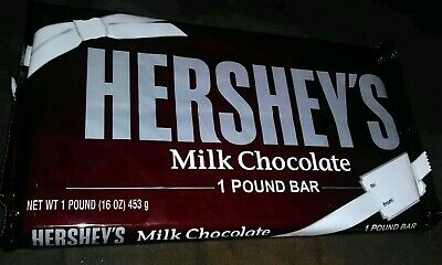 Hershey's Milk Chocolate Candy Bar * Giant 1 lb. Size Bar! * (Best by