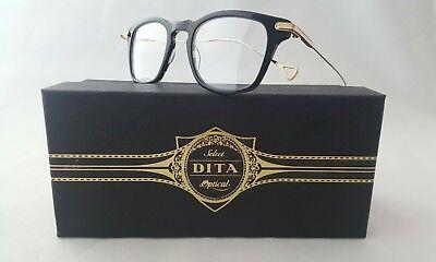 DITA RIAD DRX-2062-A-BLK-GLD-47 BLACK SWIRL 12K GOLD OPTICAL FRAME MADE IN (Dita Optical)