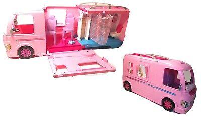 Mattel BARBIE BUS Dream Travel Camper Extendable RV Motor Home w/ Accessories
