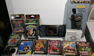 Atari Lynx II Handheld System W/ 9 Games Pouch boxes & Manuals