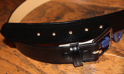 Dutyman Police Equipment 1511 Full Grain Leather Belt Size 38 1.5 Nicklesilver