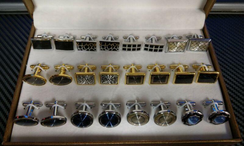 12 Pair Cufflink Gift Set