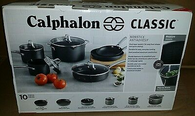 Calphalon Classic 10-pc. Hard-Anodized Aluminum Nonstick Cookware Set New Marks