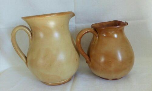 2 BOCCALI brocche caraffe terracotta vino acqua rustico H 20 e 15