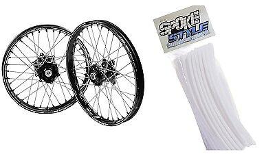 Spoke Style Speichen Cover Überzug MX Motocross Weiß White SpokeStyle