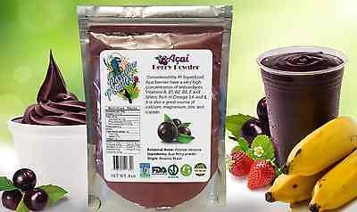 ACAI berry powder Assai 8oz 1/2lb AntiAging Antioxidant Energy Boost Great Taste