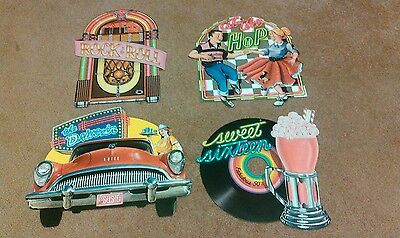 Pack of 4 1950 Themed Party Decoration CutOuts Sock Hop Record 16 In. Beistle Co