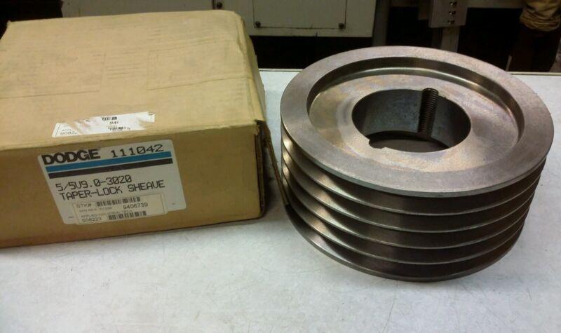 Dodge 111042 Taper Lock Sheave 5/5V9.0-3020 NEW
