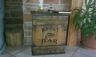 Mini Bar Whiskey Frachtkiste  shabby vintage Schrank Whisky Couchtisch massiv