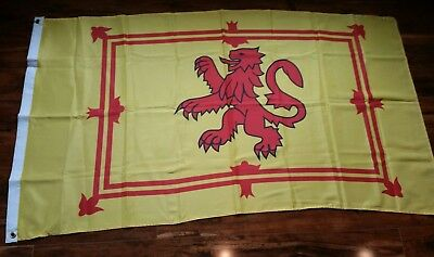 """BEAUTIFUL SCOTTISH FLAG 33""""X 58"""" - THE LION RAMPART OF SCOTLAND - GREAT COLOR!"""