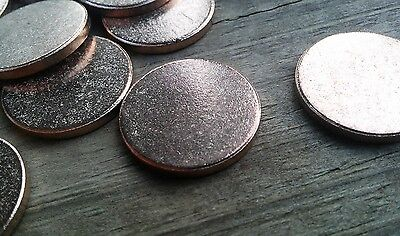 20pc, Metal Stamping Blanks, 22mm x 2mm, Bronze full Washers, Made In USA