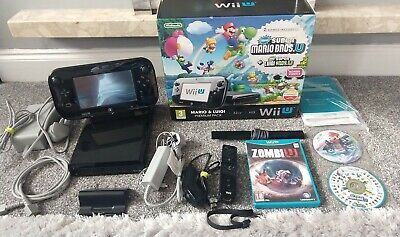 Boxed Nintendo Wii U Mario & Luigi Premium Pack + Mario Kart 8 Game Bundle 32GB