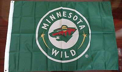Minnesota Wild 3X5 Flag  Us Seller  Free Shipping Within The Us