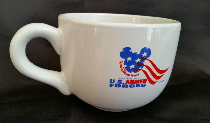 Walt Disney World Salutes the US Armed Forces Coffee Tea Soup Mug