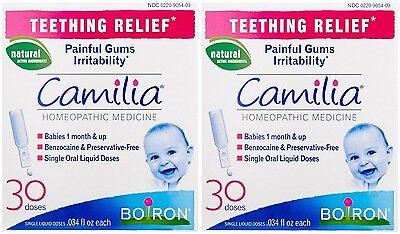 2 Pack Boiron Camilia Teething Relief, 30 Count Ea (0.034 fl oz each) ()