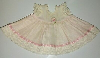 VTG VOGUE DOLL DRESS TAGGED GINNY'S SISTER BABY GINNETTE 1950'S BABY DOLL DRESS