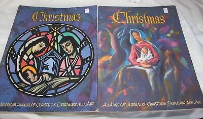 Lot of 2 Christmas Augsburg Annual of Christmas Lit. and Art 1967 and 1972