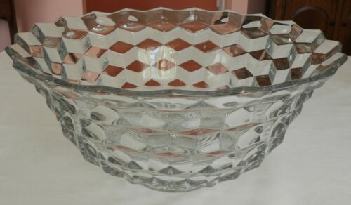 """Beautiful Vintage Fostoria American Clear 18"""" Crystal Glass Punch Bowl"""