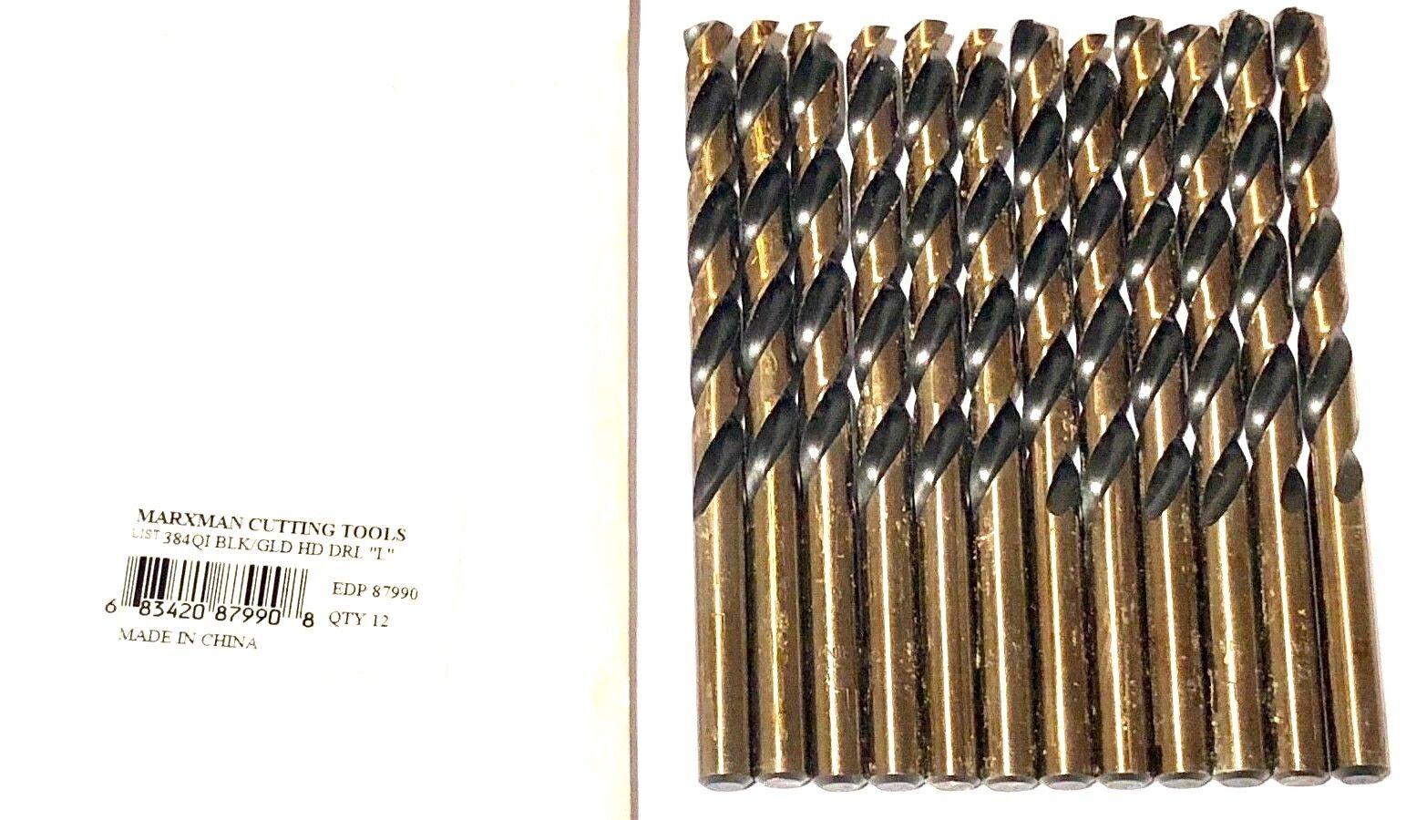 Marxman Letter K Drill Bit Jobber Length Heavy Duty Drills HSS 12 Pack
