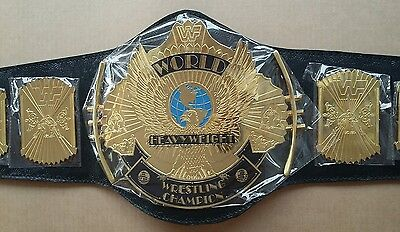 WWF/WWE Classic Gold Winged Eagle  Championship Replica Belt Metal Plate Adult