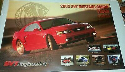 2003 SVT Mustang Cobra poster