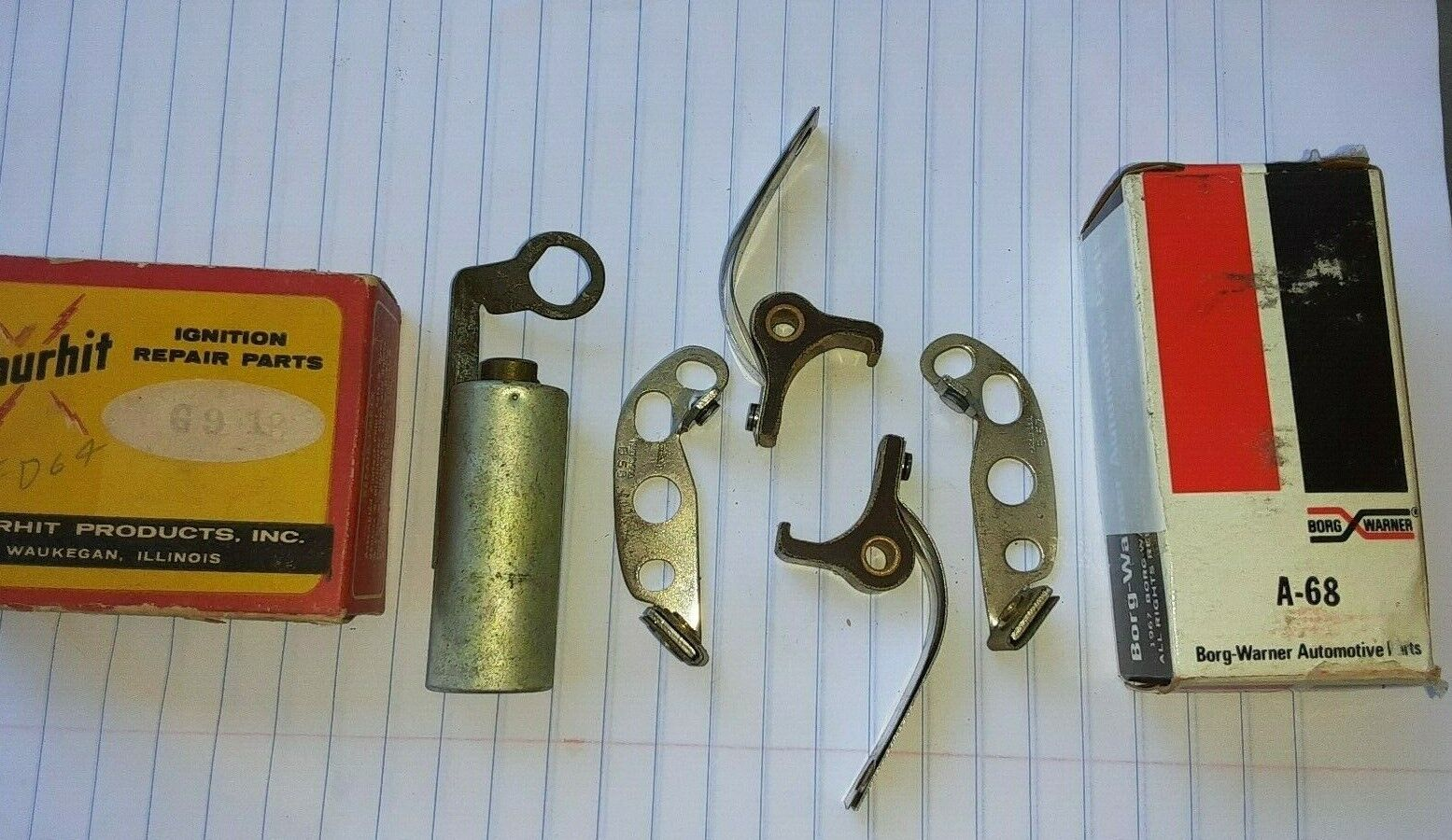 NOS CONTACT POINTS & CONDENSER 37 38 39 40 41 FORD 8 39-41 MERCURY VINTAGE 1939