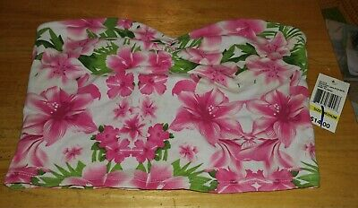 - JUNIOR WALL FLOWER WHITE/PINK FLORAL STAPLESS TUBE TOP MEDIUM NWT