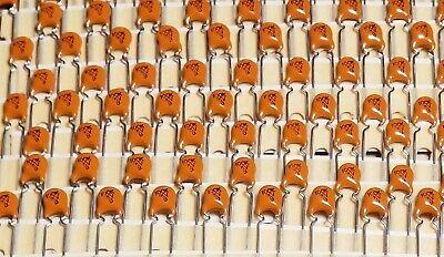 Lot Of 100 Vishay 10tst10re Ceramic Disc Capacitors 100pf 1000vdc 10