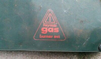 Vintage Taymar Gas Burner Set B7 34 Blowlamp Set In Original Box