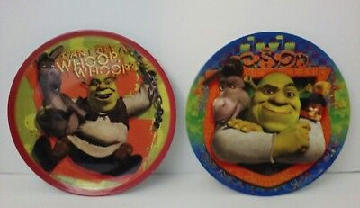 SHREK WITH DONKEY WHOOP WHOOP KIDS PLATE by ZAK DESIGNS LOT of 2