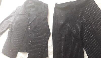 Frauenanzug Damenanzug Nadelstreifen Business Anzug Damen Oberteile Hose - Frauen Schwarzen Anzug Kostüm