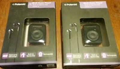 Two(2 ) BRAND NEW Polaroid  4GB MP3 Players PMP80-4 Retail packaging+Ships