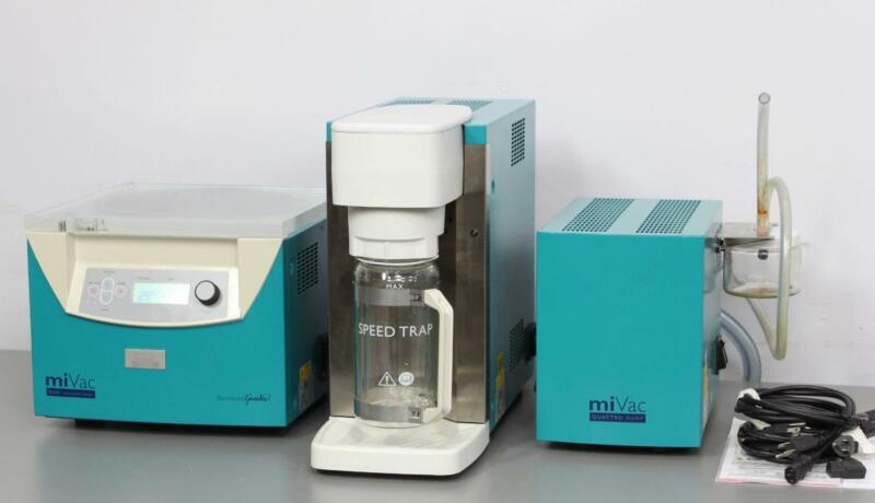 GeneVac miVac Duo Concentrator w/ SpeedTrap Quattro Pump Centrifugal Evaporator