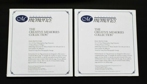 Lot 2 Creative Memories 12x12 Page Protectors Old Style (15 Sheets Per Pack) NEW