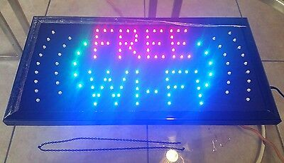 Free Wi-fi Animated Led Business Plug-in Lightweight Sign Display Wchain
