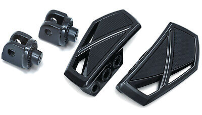 Kuryakyn Gloss Black Phantom Mini Floorboard Front Or Rear Adapter KIT Victory