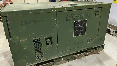 Mep-803a 10kw Diesel Generator Military 120240 60hz 1-3 Phase 4980 Hours