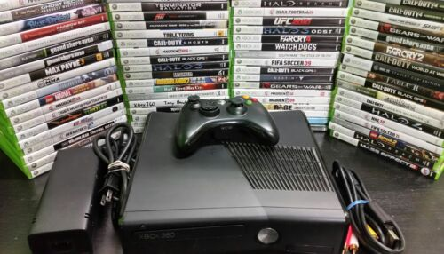 Xbox 360 - Microsoft Xbox 360 S Slim 250GB Console system with games Tested