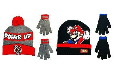 Nintendo Super Mario Bros. Boys Winter Hat and Gloves Kids Children Gift Toy USA