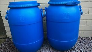 2 x Plastic Drum Keg Oil Storage  Barrel   Containers Water 50ltr