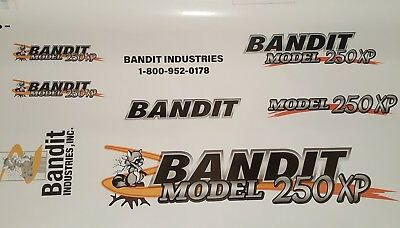 Brush Bandit Wood Chipper Model 250xp Decal Kit