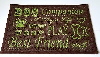 - PARK B.SMITH 13x19 Dog Mat Rug tapestry Best Friend Play